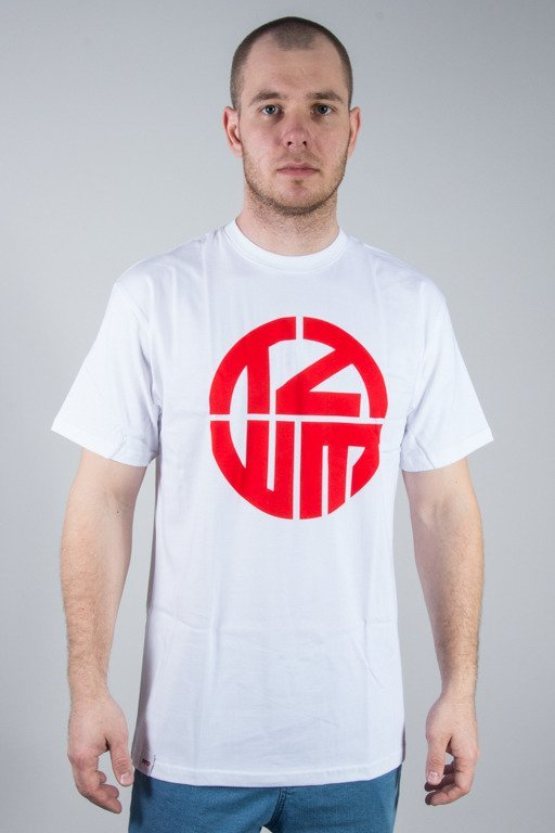 PROPER T-SHIRT TZWM LOGO WHITE-RED