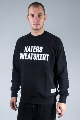 PROSTO BLUZA BEZ KAPTURA HATERS BLACK