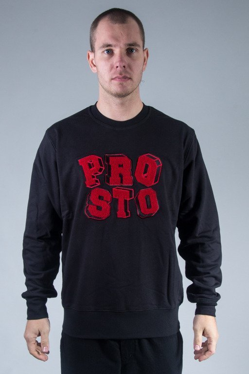 PROSTO BLUZA BEZ KAPTURA PLAY BLACK-RED
