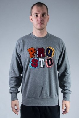 PROSTO BLUZA BEZ KAPTURA PLAY GREY