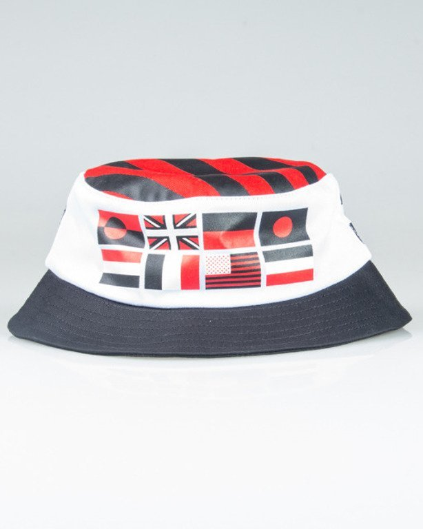 PROSTO BUCKET HAT ELEGANCE STRIPES WHITE