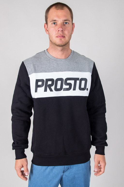 PROSTO CREWNECK NOVEL TONAL BLACK