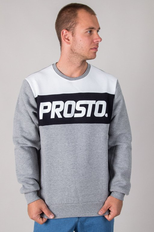 PROSTO CREWNECK NOVEL TONAL GREY
