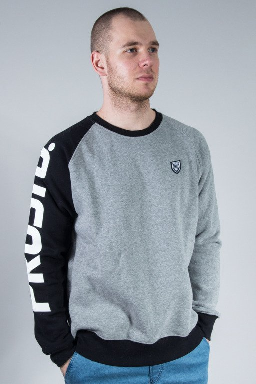 PROSTO CREWNECK ONE HAND GREY