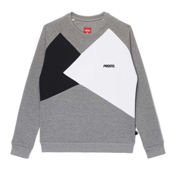 PROSTO CREWNECK WOMAN ANGELS GREY