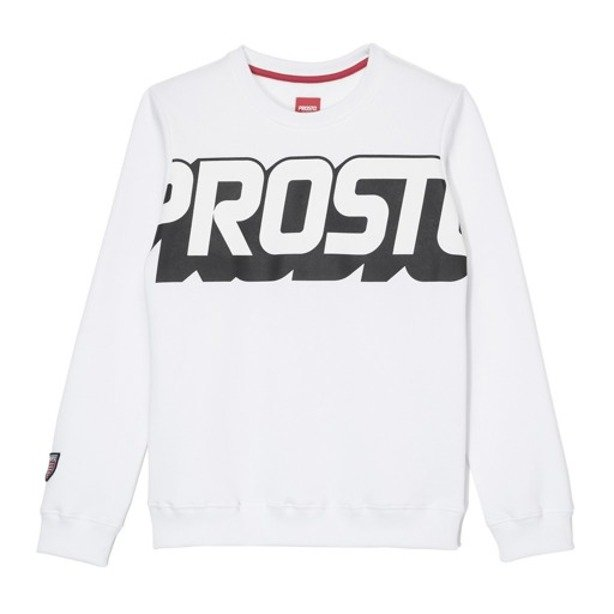 PROSTO CREWNECK WOMAN CREW WHITE