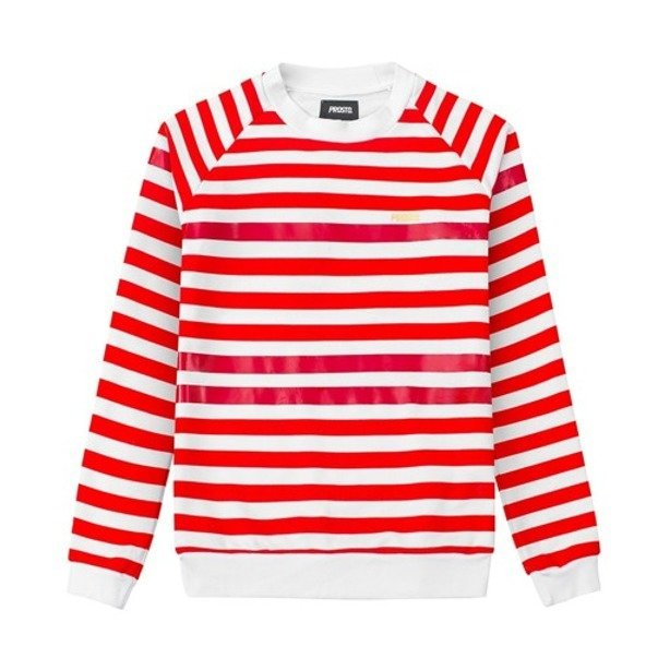 PROSTO CREWNECK WOMAN GRILLE RED