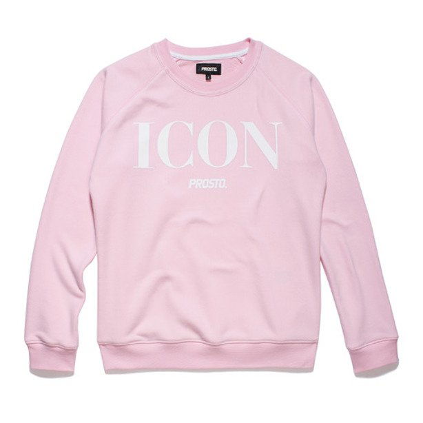 PROSTO CREWNECK WOMAN ICON MOSS PINK