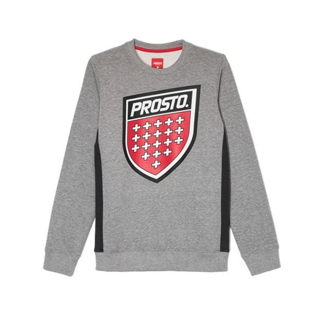 PROSTO CREWNECK WOMAN SHIELD GREY