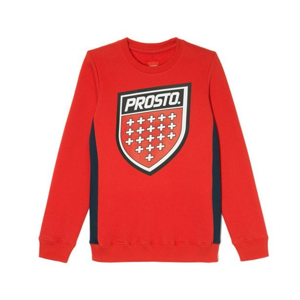 PROSTO CREWNECK WOMAN SHIELD RED