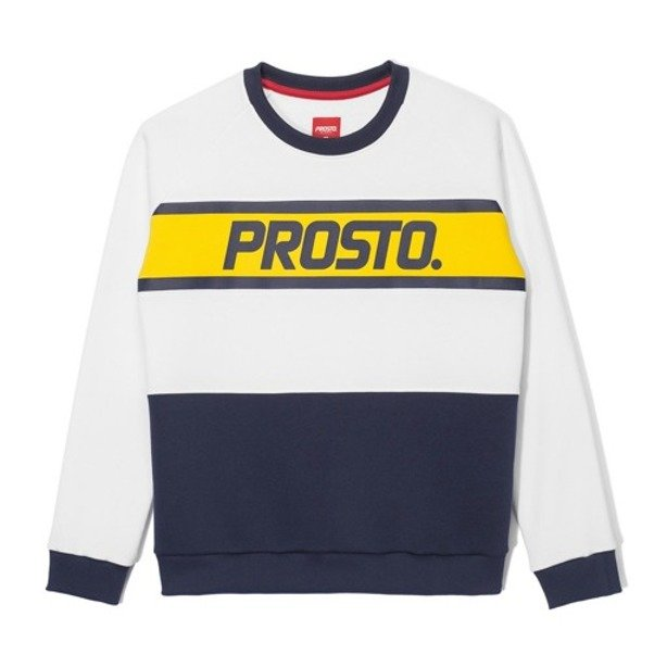 PROSTO CREWNECK WOMAN WASP WHITE
