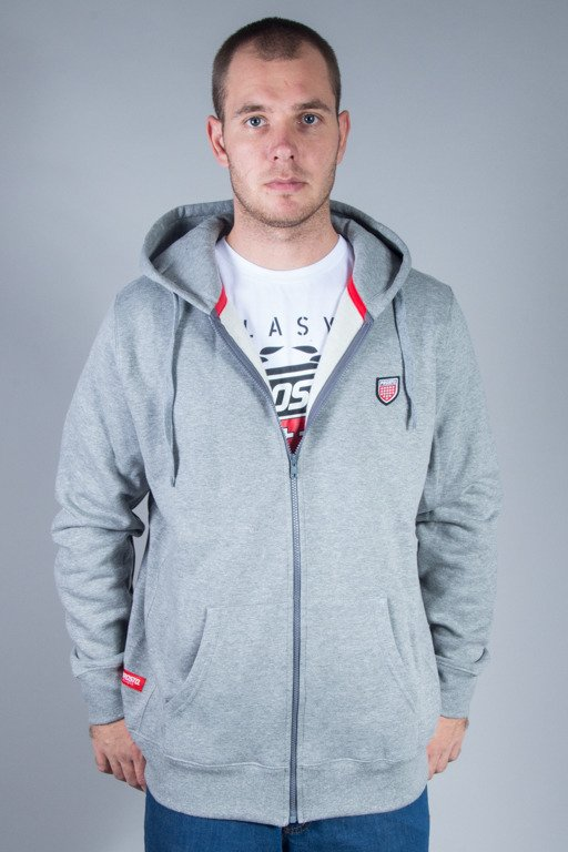PROSTO CREWNECK ZIP BASIC GREY