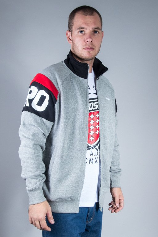 PROSTO CREWNECK ZIP INFLUENCE GREY