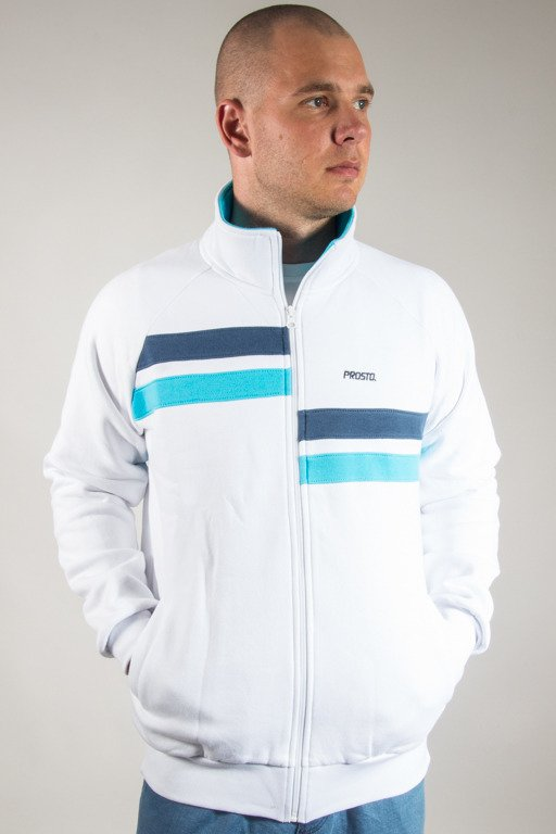 PROSTO CREWNECK ZIP STATION WHITE