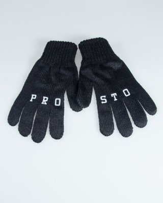 PROSTO GLOVES FINGERS BLACK