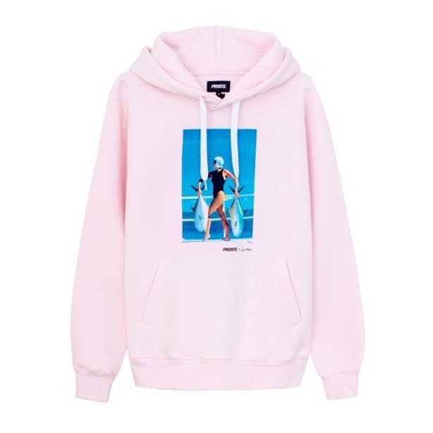 PROSTO HOODIE TWO FISH PINK