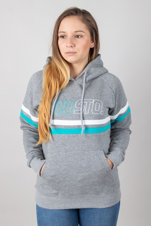 PROSTO HOODIE WOMAN ELBOW GREY