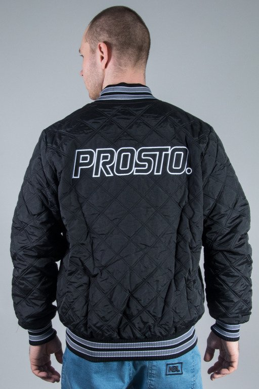 PROSTO JACKET BASEBALL QUILTED BLACK