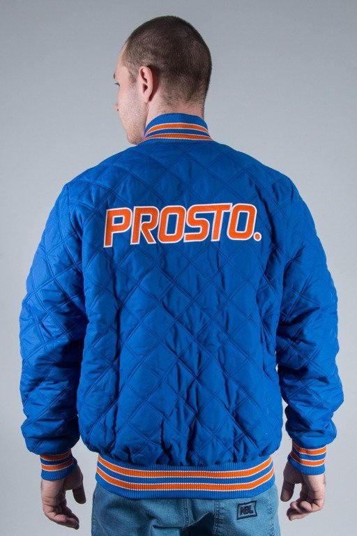 PROSTO JACKET BASEBALL QUILTED BLUE