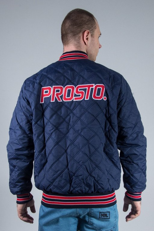 PROSTO JACKET BASEBALL QUILTED NAVY