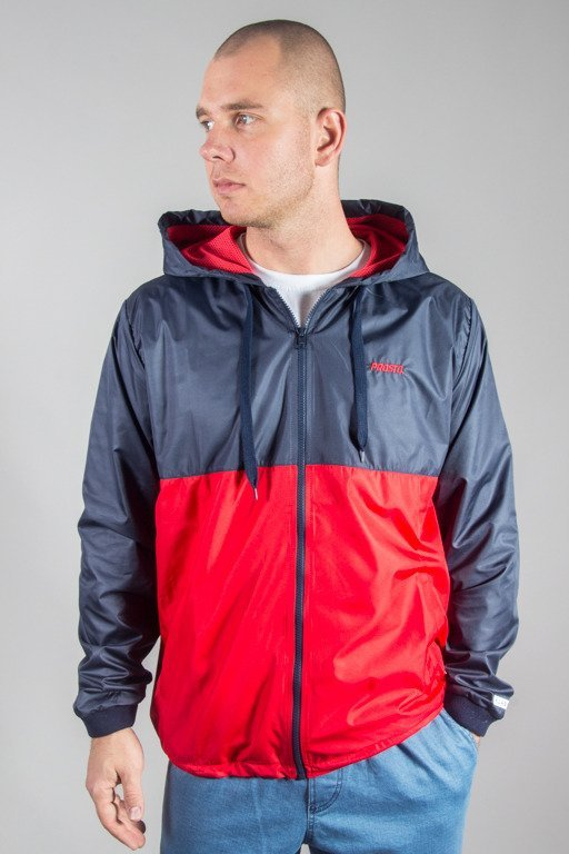 PROSTO JACKET ZIP WINDRUNNER FREEZER RED