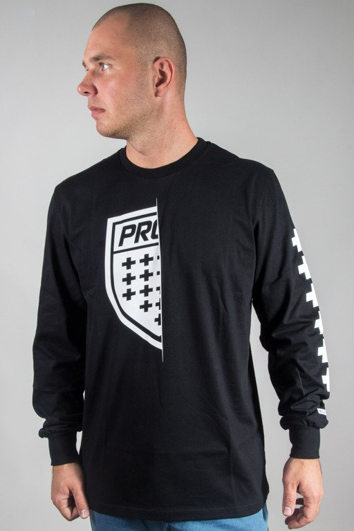PROSTO LONGSLEEVE ON HALF BLACK