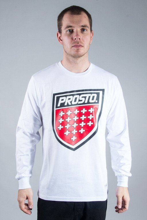 PROSTO LONGSLEEVE SHIELD WHITE