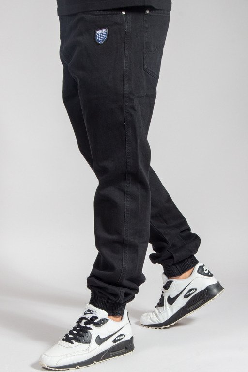 PROSTO PANTS JEANS JOGGER READY BLACK