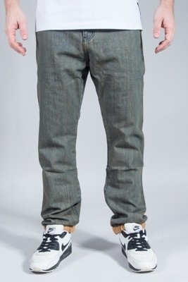 PROSTO SPODNIE JEANS PIN ROLL YELLOW WASHED