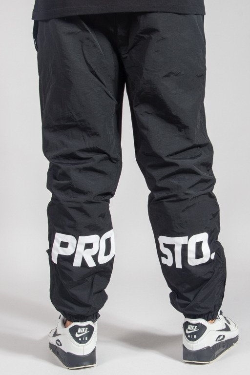 PROSTO SWEATPANTS HIDEN BOTTOM BLACK
