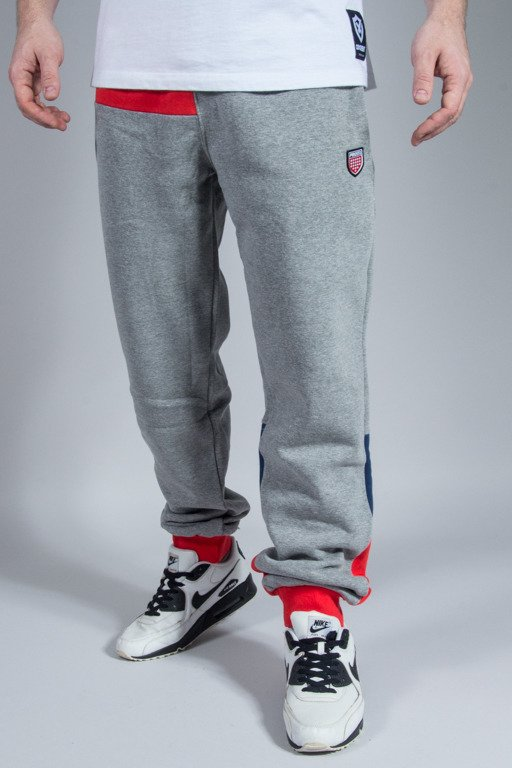 PROSTO SWEATPANTS PATCH QUASI GREY
