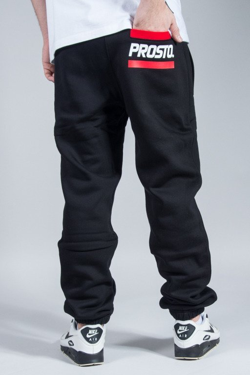 PROSTO SWEATPANTS POCKET LOGO BLACK