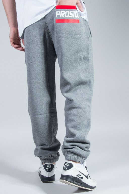 PROSTO SWEATPANTS POCKET LOGO GREY