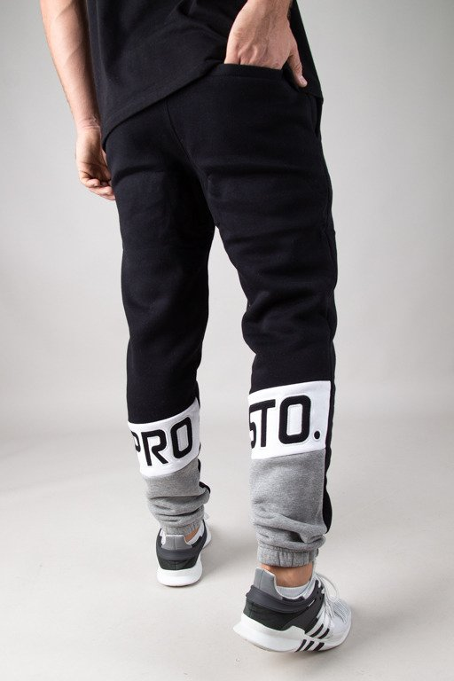 PROSTO SWEATPANTS SELLO BLACK