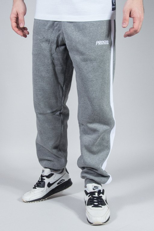 PROSTO SWEATPANTS SIDE SEAM GREY