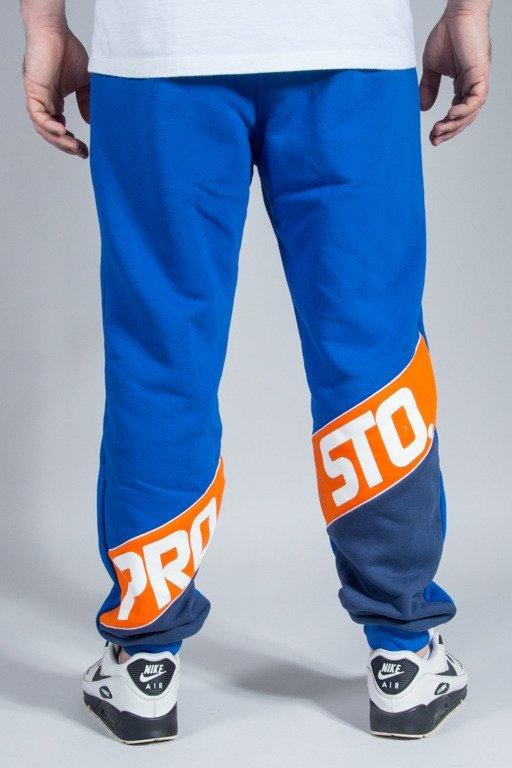 PROSTO SWEATPANTS SLANT CALF BLUE