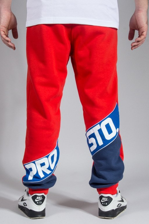 PROSTO SWEATPANTS SLANT CALF RED