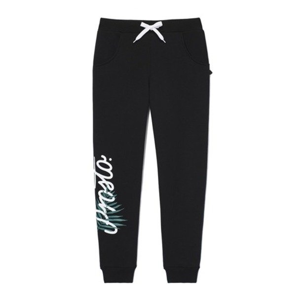 PROSTO SWEATPANTS WOMAN PLANTS BLACK