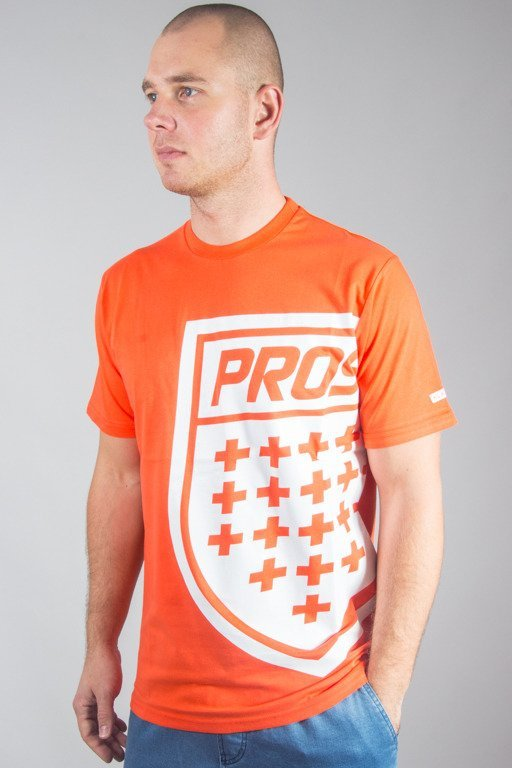 PROSTO T-SHIRT BIG SHIELD RED