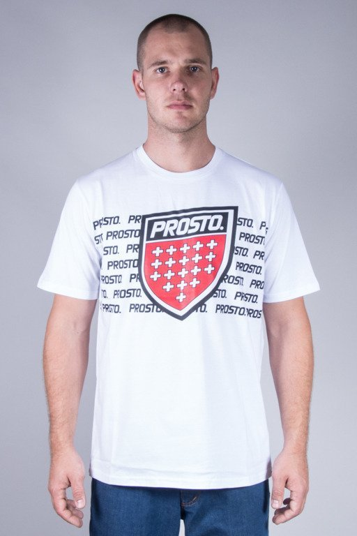 PROSTO T-SHIRT BLOCKS WHITE