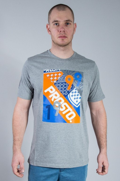 PROSTO T-SHIRT CUBIC GREY