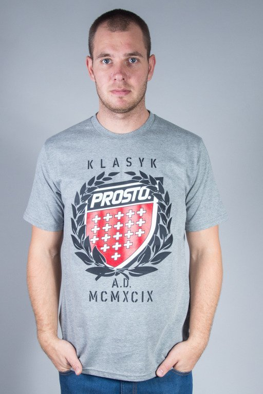 PROSTO T-SHIRT KING GREY