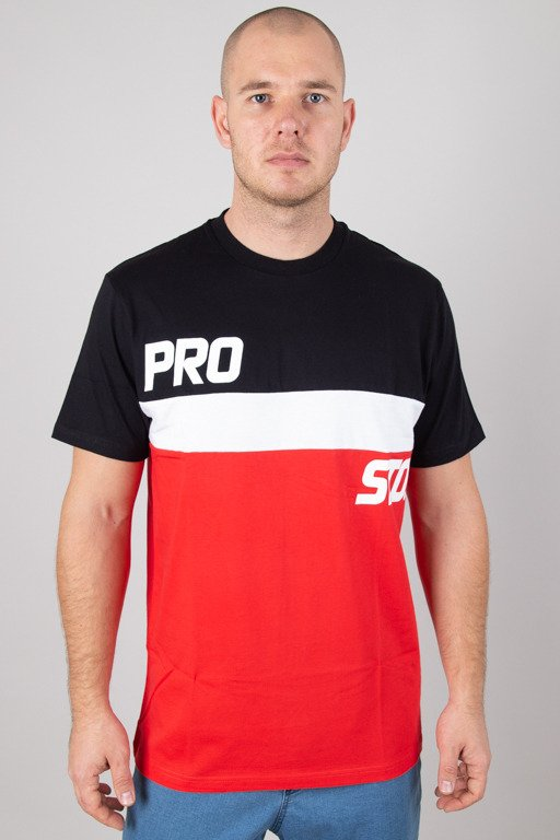 PROSTO T-SHIRT LEVELE BLACK-RED