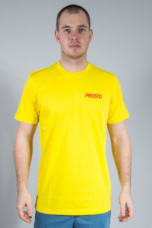 PROSTO T-SHIRT MINIMAL YELLOW