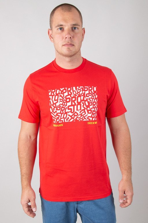 PROSTO T-SHIRT OFMIND RED