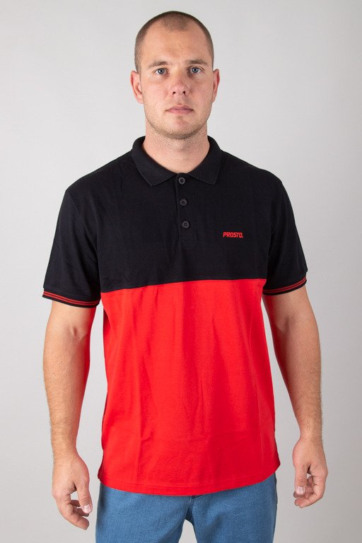 PROSTO T-SHIRT POLO EQUALLY RED