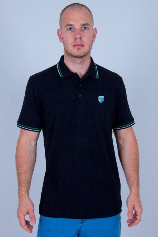 PROSTO T-SHIRT POLO KOLO BLACK