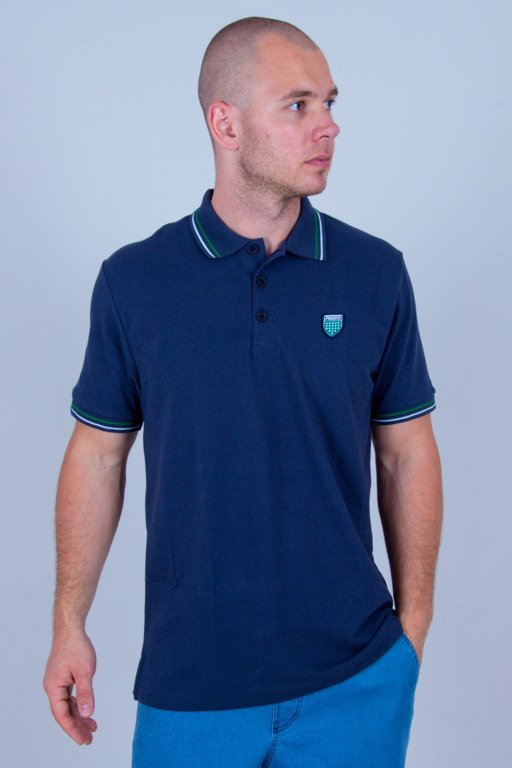 PROSTO T-SHIRT POLO KOLO NAVY