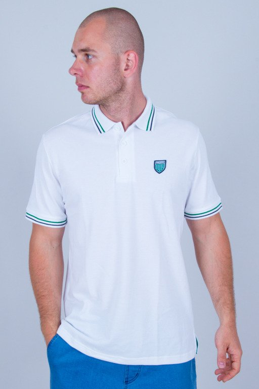 PROSTO T-SHIRT POLO KOLO WHITE