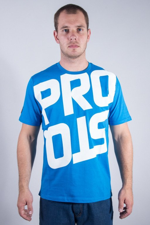 PROSTO T-SHIRT REVERSED BLUE